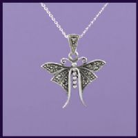 Butterfly with Marcasite